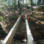 Céligny: construction d'un nouveau pont sur le Brassu
